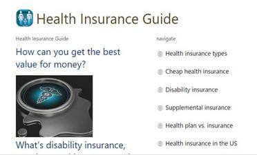 Health Insurance Guide App For Windows Phone