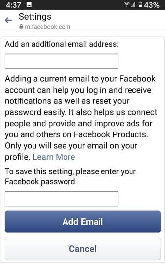 How to Change Email Address on Facebook Account
