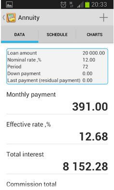 Simple loan calculator App For Android