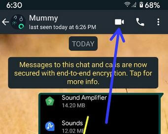 Use WhatsApp Video Call on Android