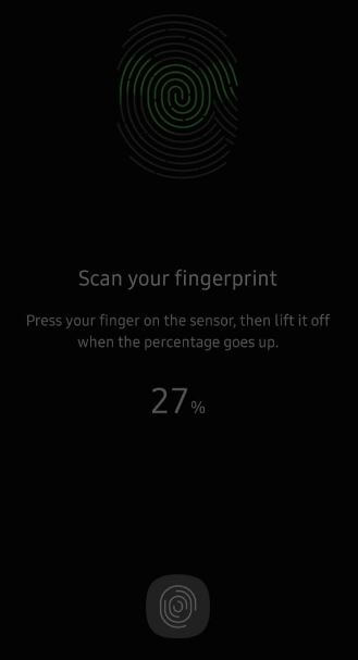 Add fingerprint in Samsung A50