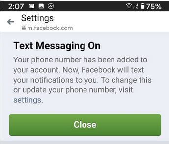 Add new number on FB messenger App Android