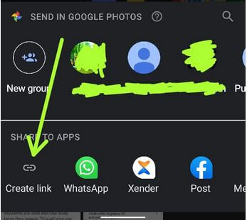 Create picture link on WhatsApp Android