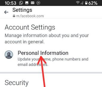 Deactivate the Facebook messenger account in the android app
