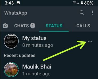 Edit and delete WhatsApps status Android