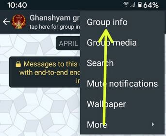 Edit group info on your Android