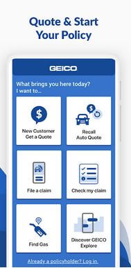 GEICO Mobile Quote App For Android