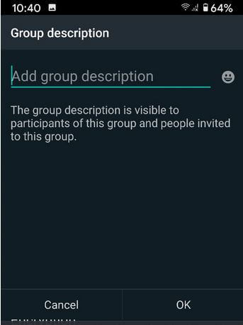 How to Add Group Description on WhatsApp Android Phone or tablet