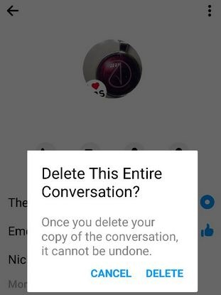 How to Delete Chat History in Facebook Messenger App in Android