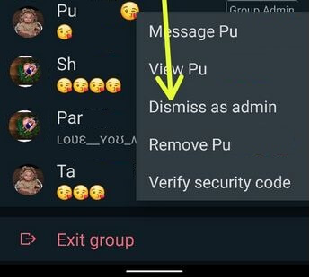 How to Remove WhatsApp Admin on Android