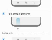 How to use full screen gestures on Samsung Galaxy A50