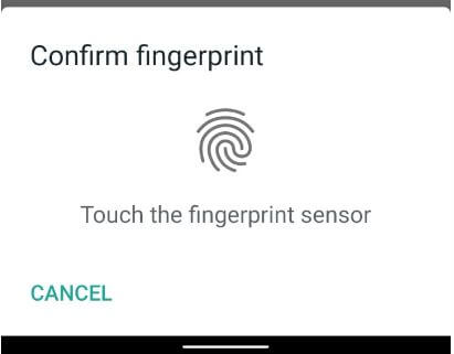 Lock WhatsApp on Samsung with Fingerprint