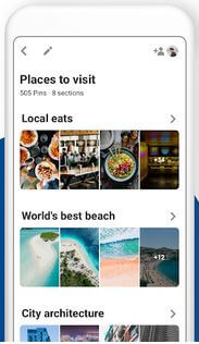 Pinterest social networking app for Android