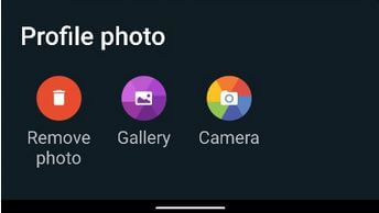 Set a new profile photo on WhatsApp Android
