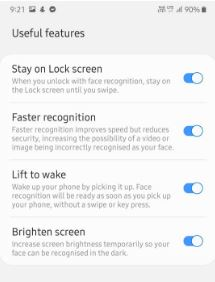 Set up face unlock in Samsung Galaxy A50