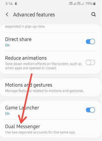 Use dual WhatsApp account on Samsung A50