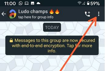 WhatsApp group settings for edit subject name Android