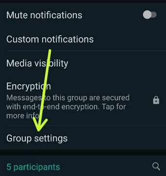 WhatsApp group settings to change Admin in WhatsApp Android