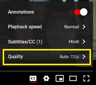 Enable 1080p on YouTube