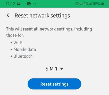 How to Reset Samsung Galaxy A50 Network Settings