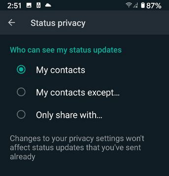 How to Show or Hide WhatsApp Status From Individual Contacts on Android
