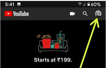 YouTube profile to change download video quality