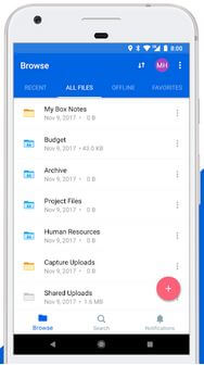 Box Android Cloud Storage App