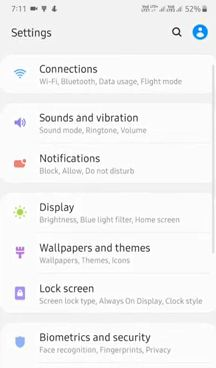 Change themes on Galaxy A50