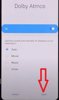 Enable or disable Dolby Atmos on Samsung S20+