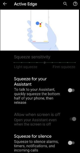 How to Change Active Edge Squeeze Settings in Pixel 4 and Pixel 4 XL