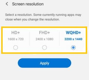 How to Change Screen Resolution on Samsung Galaxy S20 Ultra