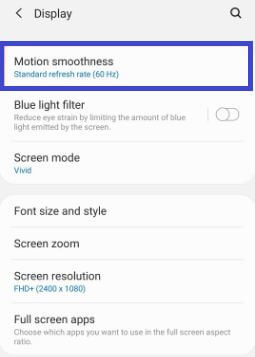 How to Turn on Galaxy S20's 120Hz Refresh Rate