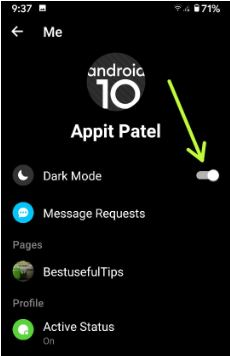 How to Turn On Facebook Messenger Dark Mode on Android