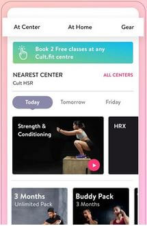 Curefit Android Fitness Tracker App