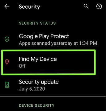 Find My Device Google Pixel