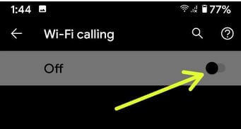 Enable WiFi Calling Android 10