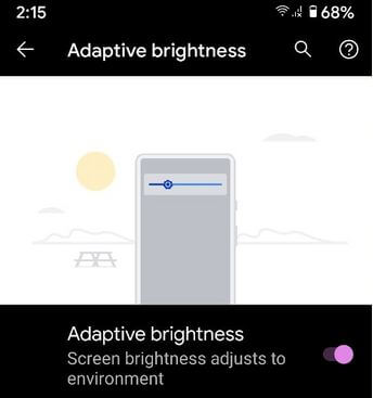 How to Enable or Turn Off Adaptive Brightness on Google Pixel 4a