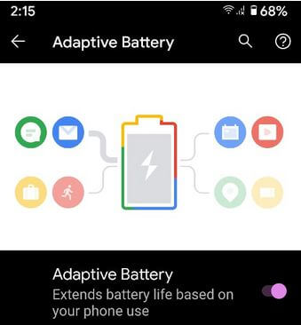 How to enable or turn Off Adaptive Battery on Google Pixel 4a Phone