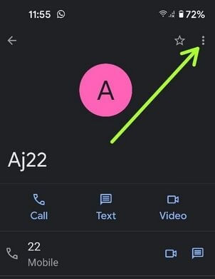 Tap on More to block Pixel 4a calls