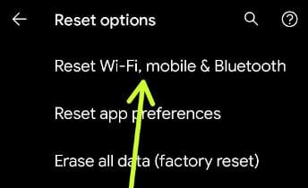 Google Pixel 5 Reset Network Settings