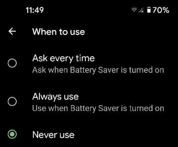 How to Enable Extreme Battery Saver on Google Pixel 5