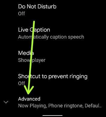 Pixel 5 change ringtone using advanced settings