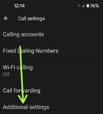 How to Activate Call Waiting on Pixel 5 using additional settings