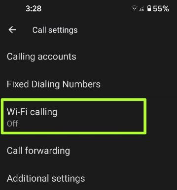 How to Enable WiFi calling in Pixel 5