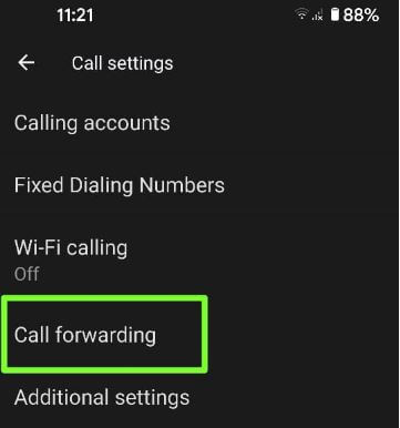 Set up call forwarding on Google Pixel 5