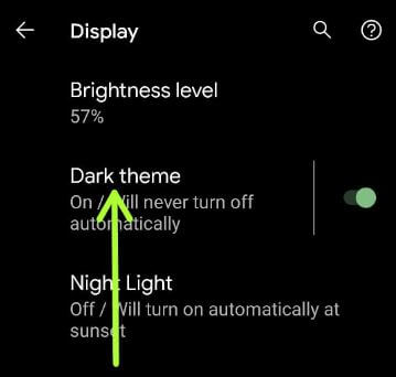 How to Activate Dark Theme on Android 11