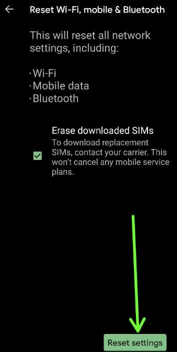 How to Reset Network Settings Android 11 OS