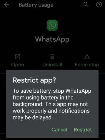 How to Restrict App Use Battery in Background on Android 11