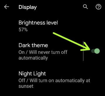 How to Turn On Auto Dark Mode in Android 11