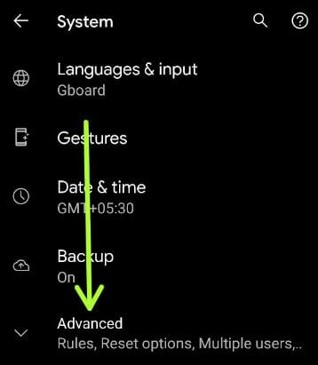 Resettings network on Android 11 using system settings